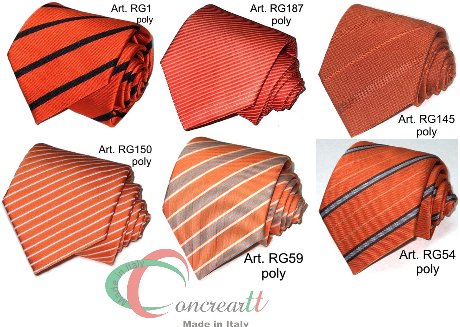 immagini dettagliate miglior prezzo per prezzo limitato Dettagli su Cravatta regimental arancio microfibra anche personalizzata  MADE in ITALY